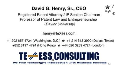 PATENT AND TRADEMARK LAWYER: DAVID G  HENRY
